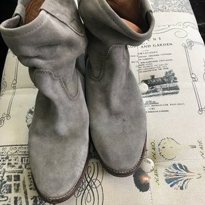 Isabel Marant Gray suede Jenny boots